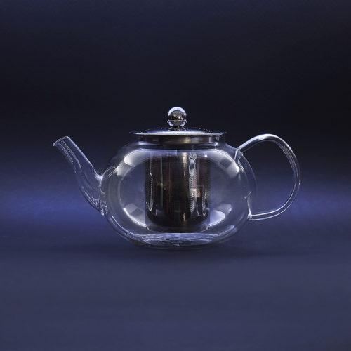 Стеклянный чайник с металлической колбой и носиком, 800 мл